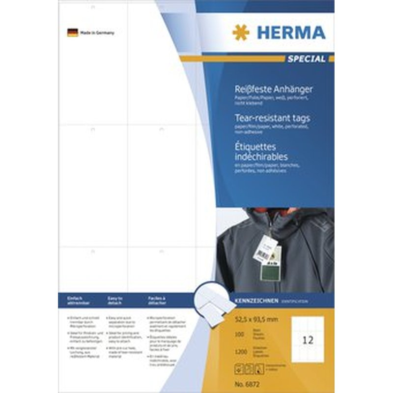 Herma 6872 - Stabile Anhänger - 52,5 x 93,5mm