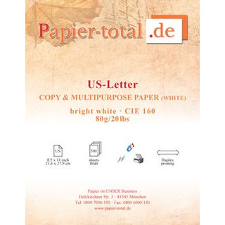 US Letter 80g/m² - weiss